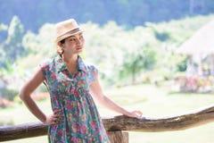 Una donna dell'asiatico del ritratto Fotografia Stock Libera da Diritti