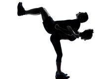 Una donna dell'uomo delle coppie che esercita forma fisica di allenamento Fotografia Stock Libera da Diritti