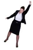 Una donna di affari che alza il suo pugno Immagini Stock Libere da Diritti