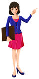 Una donna di affari con una giacca sportiva blu Fotografia Stock Libera da Diritti