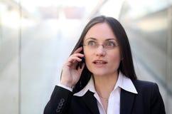 Una donna di affari sorpresa Fotografia Stock Libera da Diritti
