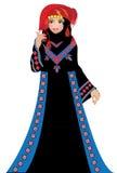Una donna giordaniana di tradional Immagine Stock