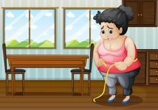 Una donna grassa triste Immagini Stock Libere da Diritti