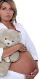 Una donna incinta. fotografie stock