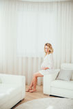 Una donna incinta Fotografia Stock Libera da Diritti