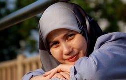 Una donna musulmana immagine stock libera da diritti