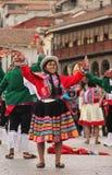 Una donna peruviana ad un festival fotografia stock libera da diritti