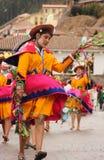 Una donna peruviana ad un festival fotografie stock