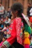 Una donna peruviana ad un festival immagine stock