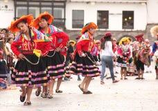 Una donna peruviana ad un festival fotografie stock libere da diritti