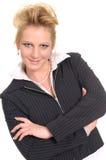 Una donna piacevole nel suo tempo di ricreazione Fotografie Stock