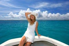 Una donna rilassata. Immagini Stock