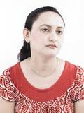 Una donna triste dell'origine indiana fotografia stock libera da diritti