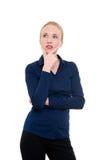 Una donna sta pensando Immagine Stock