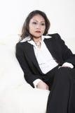 Una donna in un vestito. Asiatico Fotografia Stock Libera da Diritti