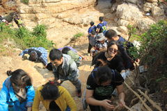 Una e ajude-se amantes exteriores em GUANGDONG CHINA ÁSIA Fotografia de Stock