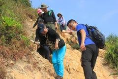 Una e ajude-se amantes exteriores em GUANGDONG CHINA ÁSIA Imagem de Stock Royalty Free