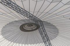 Una ejecución enorme del parasol en una construcción fotografía de archivo libre de regalías