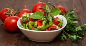 Una ensalada de las verduras frescas Fotografía de archivo