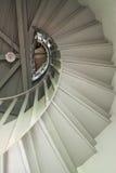 Una escalera espiral de madera Imágenes de archivo libres de regalías