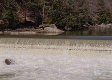 Una escena de la cascada en la primavera imagen de archivo libre de regalías