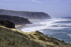 Una escena de la costa costa atlántica 3 de Portugals Fotografía de archivo libre de regalías