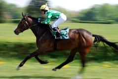 Una escena de una carrera de caballos fotografía de archivo libre de regalías