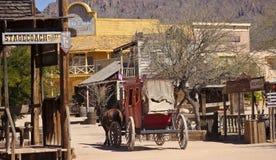 Una escena en Tucson viejo, Tucson, Arizona Imagen de archivo libre de regalías