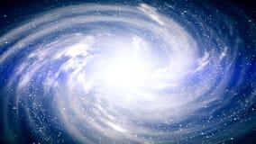 Una escena hermosa del espacio con una galaxia giratoria almacen de metraje de vídeo