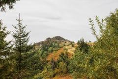 Una escena hermosa del paisaje en la montaña imagen de archivo