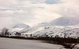 Una escena hivernal en la cumbre de los haines foto de archivo libre de regalías