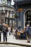 Una escena a partir de la vida urbana del ` s de Londres Imágenes de archivo libres de regalías