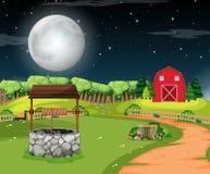 Una escena rural de la casa stock de ilustración