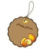 Una escritura de la etiqueta de los huevos de Pascua decorativos Fotografía de archivo libre de regalías