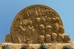 Una escultura de la arena de Foto de archivo libre de regalías