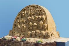 Una escultura de la arena de Imágenes de archivo libres de regalías