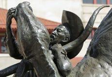 Una escultura, el primer Bulldogger, corrales de Fort Worth Fotografía de archivo libre de regalías