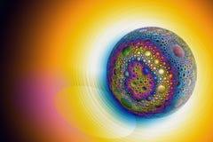 Una esfera mágica hermosa con un modelo esférico libre illustration