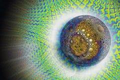 Una esfera mágica hermosa con un modelo esférico stock de ilustración