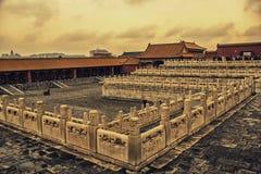 Una esquina de la casa imperial, Pekín, China Foto de archivo