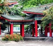 Una esquina reservada en un templo chino Imagenes de archivo