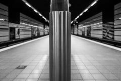 Una estación de metro en Hamburgo foto de archivo libre de regalías
