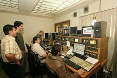 Una estación de televisión iraquí independiente, Cario Imagenes de archivo