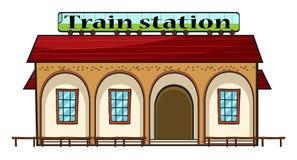 Una estación de tren stock de ilustración