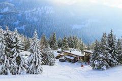 Una estación del esquí Foto de archivo libre de regalías