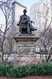 Una estatua de bronce del Secretario de Estado anterior William Seward en New York City fotos de archivo