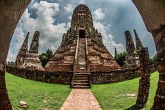 Una estatua de Buda del gigante considera hacia fuera sobre Tailandia céntrica la puesta del sol Imágenes de archivo libres de regalías