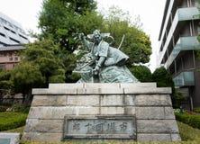 Una estatua de cobre del 9no Danjuro Ichikawa Foto de archivo