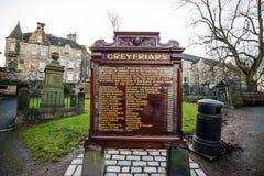 Una estatua de Greyfriars Bobby en Edimburgo imágenes de archivo libres de regalías
