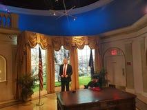 Una estatua de la cera de Donald Trump imágenes de archivo libres de regalías